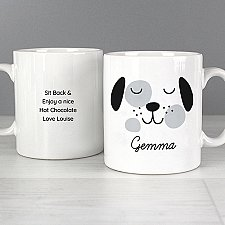 Personalised Cute Dog Face Mug Delivery UK