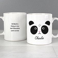 Personalised Cute Panda Face Mug Delivery UK