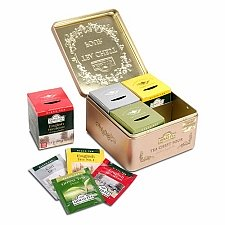Ahmad Tea Chest Four Caddy Tea Selection Delivery to UK