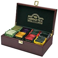 Ahmad Tea Wooden Tea keeper Box Delivery to UK
