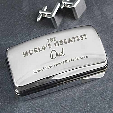 Personalised The Worlds Greatest Cufflink Box