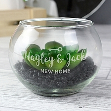 Personalised New Home Glass Terrarium Delivery to UK