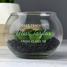 Personalised Initials Glass Terrarium Delivery to UK