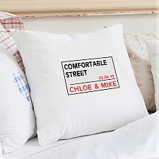 Personalised London Street Sign Cushion Cover delivery to UK