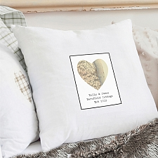 Personalised Revised New Map Heart Cushion Cover delivery to UK