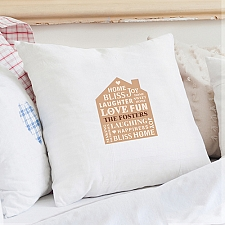 Personalised Family Typography Cushion Cover delivery to UK