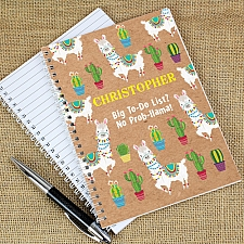 Personalised Llama A5 Notebook Delivery to UK