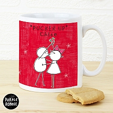 Personalised Purple Ronnie Christmas Couple Red Mug Delivery to UK