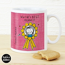 Personalised Purple Ronnie Rosette Mug For Her Delivery to UK