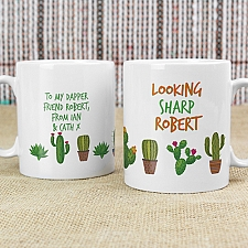 Personalised Cactus Mug Delivery to UK