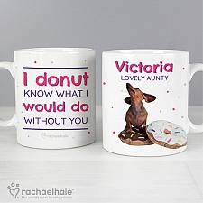 Personalised Rachael Hale I Donut Know Mug Delivery to UK