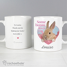 Personalised Rachael Hale Some Bunny Mug Delivery to UK