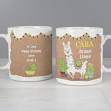 Personalised Llama Mug Delivery to UK