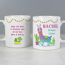 Personalised Pink Llama Mug Delivery to UK