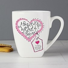 Personalised Stitch Heart Perfect Love Latte Mug Delivery to UK