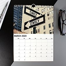 Personalised New York Calendar Delivery to UK