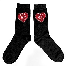 Personalised Hearts No1 Mens Socks Delivery to UK