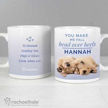 Personalised Rachael Hale Head Over Heels Puppy Mug Delivery to UK