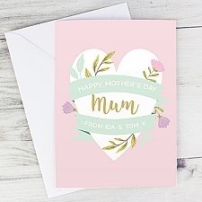 Personalised Floral Mothers Day Card Delivery UK