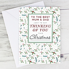 Personalised Thinking of You Christmas Card Delivery UK