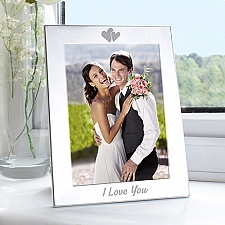 I Love You Silver Photo Frame Delivery UK
