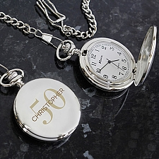 Personalised Birthday Age Pocket Fob Watch Delivery UK