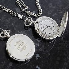 Personalised Classic Pocket Fob Watch Delivery UK