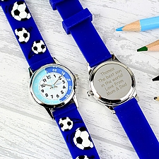 Personalised Kids Blue Watch With Presentation Box Delivery UK