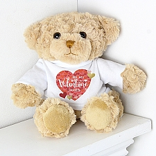 Personalised Valentines Day Confetti Hearts Teddy Delivery to UK