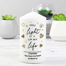 Personalised My Life Pillar Candle Delivery to UK