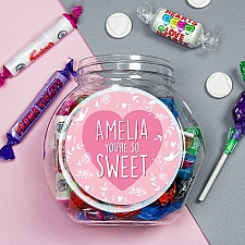 Personalised You are So Sweet Jar Delivery to UK