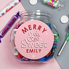 Personalised Merry So Sweet Jar Delivery UK