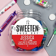 Personalised To Sweeten Your Day Sweet Jar Delivery UK