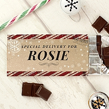 Personalised Special Delivery Milk Chocolate Bar Delivery UK