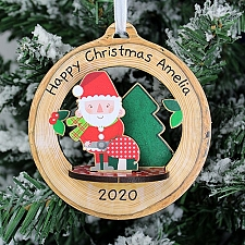 Personalised Toadstool Santa 3D Decoration Kit Delivery UK