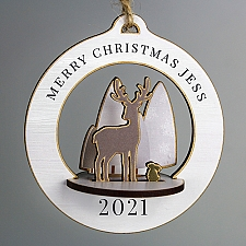 Personalised Make Your Own Reindeer 3D Decoration Kit Delivery UK