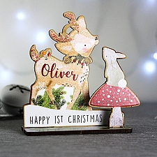 Personalised Festive Fawn 3D Decoration Kit Delivery to UK