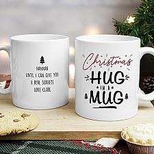 Personalised Christmas Hug Mug Delivery UK