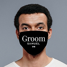 Personalised Groom Face Covering Delivery to UK