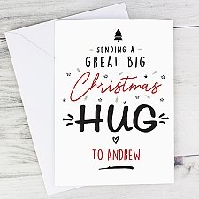 Personalised Christmas Hug Card Delivery UK