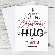 Personalised Christmas Hug Card Delivery UK