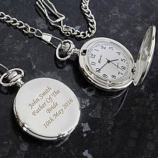 Personalised Pocket Fob Watch Delivery UK