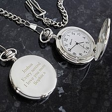Personalised Formal Pocket Fob Watch Delivery UK
