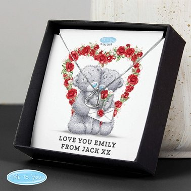Personalised Valentine Heart Necklace and Box Delivery to UK
