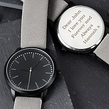 Personalised Mens Watch and Presentation Box Delivery UK