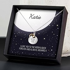 Personalised Sentiment Necklace and Box Delivery to UK