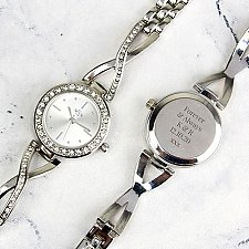 Personalised Silver Ladies Infinity Watch Delivery UK