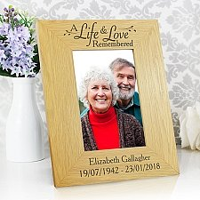 Personalised Life and Love Photo Frame Delivery UK