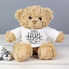 Personalised If You Need A Hug Teddy Bear Delivery UK