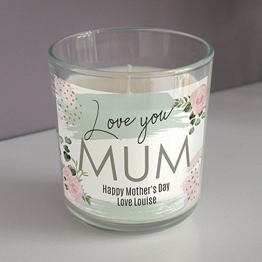 Personalised Rose Scented Candle Delivery UK